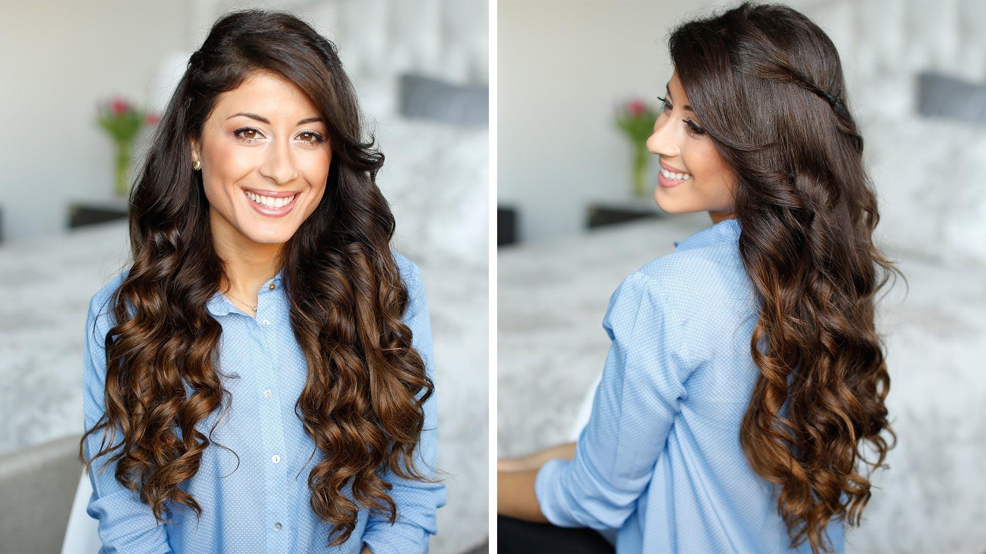 Как сделать объем волос с локонами 383